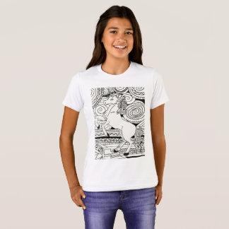 Camiseta T-shirt das meninas do unicórnio