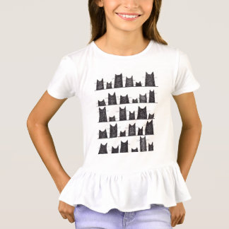 Camiseta T-shirt das meninas dos encantos de boa sorte