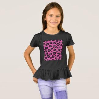 Camiseta T-shirt das meninas: Teste padrão de Jaguar