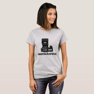 Camiseta T-shirt das mulheres da profissão do fotógrafo