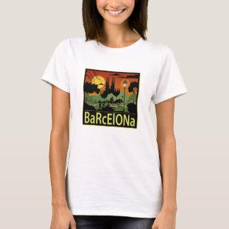 Camiseta T-shirt das mulheres de Barcelona