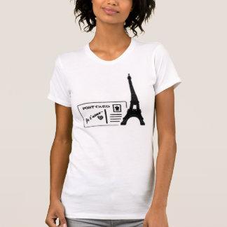 Camiseta T-shirt das mulheres do cartão do t'aime de Je da