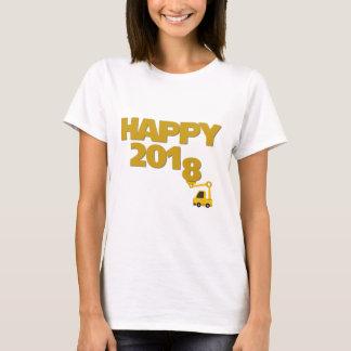 Camiseta T-shirt das mulheres do feliz ano novo 2018
