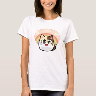 Camiseta T-shirt das mulheres do gato da vaia