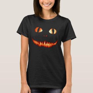 Camiseta T-shirt das mulheres do gato do fogo