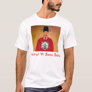 Camiseta T-shirt das realizações da canela do almirante Yi