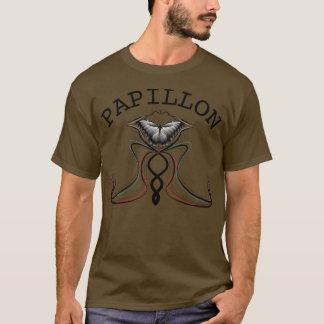 Camiseta T-shirt das riscas de Papillon da borboleta dos