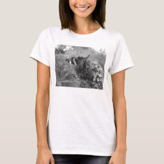 Camiseta T-shirt das senhoras - almirante Borboleta Preto &