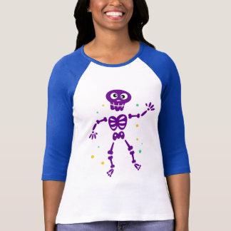 Camiseta T-shirt das senhoras com esqueleto
