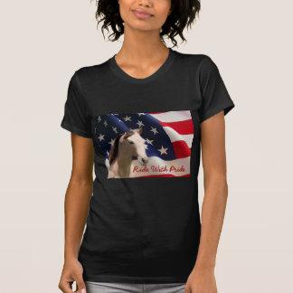 Camiseta T-shirt das senhoras da bandeira americana do