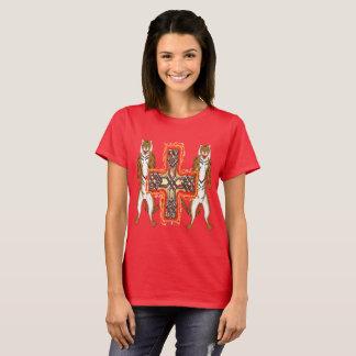 Camiseta T-shirt das senhoras da cruz do Celt do tigre