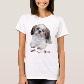 Camiseta T-shirt das senhoras da mamã de Shih Tzu