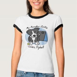 Camiseta T-shirt das senhoras de Kawaii border collie