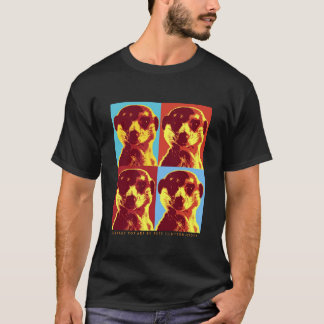 Camiseta T-shirt das senhoras de PopArt da flor