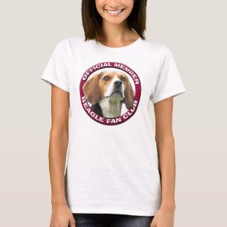 Camiseta T-shirt das senhoras do clube de fãs do lebreiro
