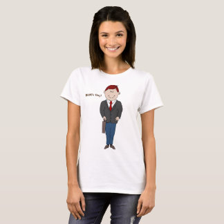 Camiseta T-shirt das senhoras do dia do chefe