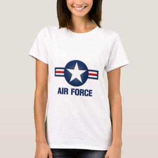 Camiseta T-shirt das senhoras do logotipo da força aérea