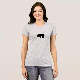 Camiseta T-shirt das senhoras do urso preto