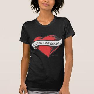 Camiseta T-shirt das senhoras (tatuagem de LiveJournal)