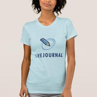 Camiseta T-shirt das senhoras (vertical do logotipo)
