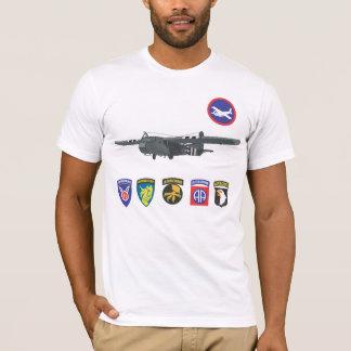 Camiseta T-shirt das tropas de planador da segunda guerra