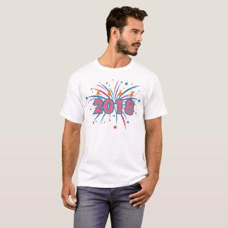 Camiseta T-shirt de 2018 fogos-de-artifício