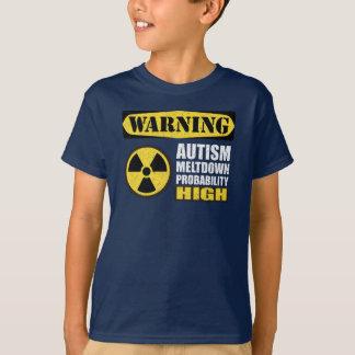 Camiseta T-shirt de advertência da fusão do autismo