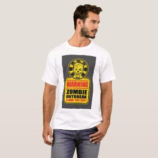 Camiseta T-shirt de advertência da manifestação do zombi