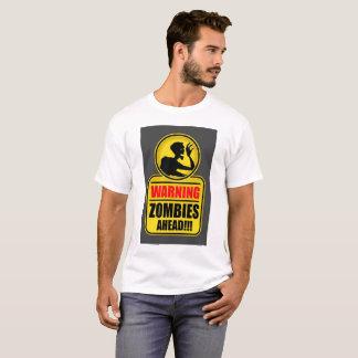 Camiseta T-shirt de advertência dos zombis adiante