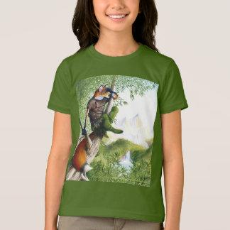 Camiseta T-shirt de ardência do Fox da fuga