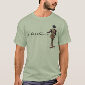 Camiseta T-shirt de Arlecchino do dell'Arte de Commedia
