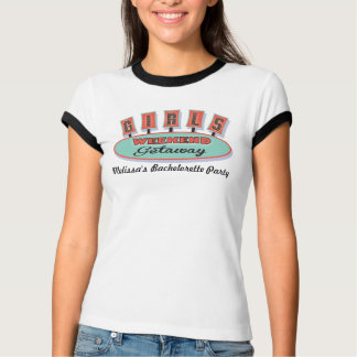 Camiseta T-shirt de Bachelorette da fuga do fim de semana