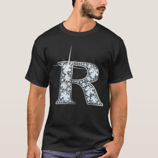 "Camiseta T-shirt de Bling diamante"""" do Falso de ""R do """