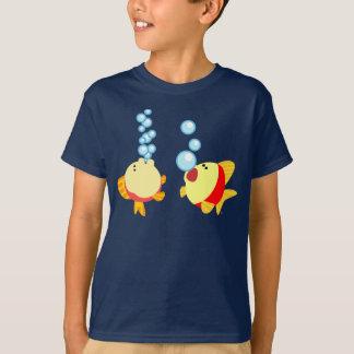 Camiseta T-shirt de borbulhagem bonito das crianças dos