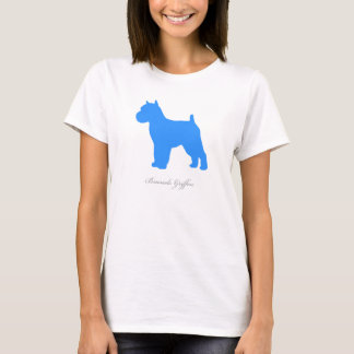 Camiseta T-shirt de Bruxelas Griffon (versão entrada azul)