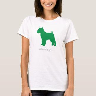 Camiseta T-shirt de Bruxelas Griffon (versão entrada verde)