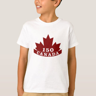 Camiseta T-shirt de Canadá 150 dos miúdos
