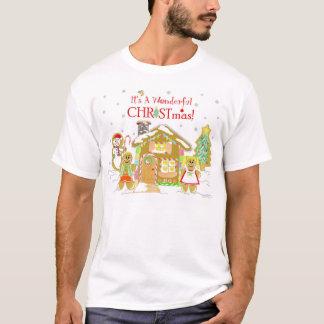 Camiseta T-shirt de Candyland do pão-de-espécie - caras