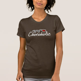 Camiseta T-shirt de Chocoholic para o amante do chocolate