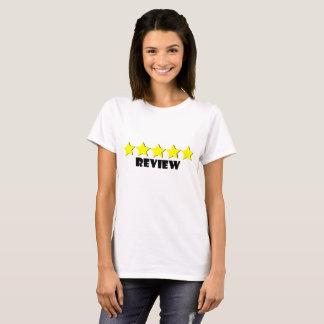 Camiseta t-shirt de cinco estrelas da revisão