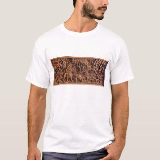 Camiseta T-shirt de cinzeladura de madeira tailandês