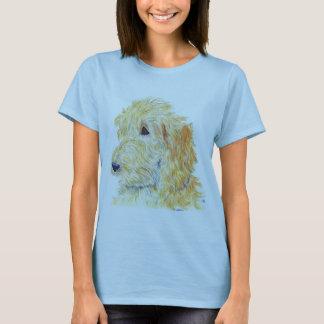 Camiseta T-shirt de creme das senhoras de Labradoodle #2