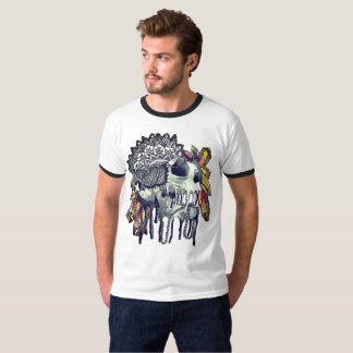 Camiseta T-shirt de cristal da mandala do crânio