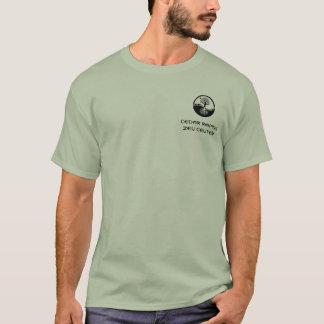 Camiseta T-shirt de CRZC com yin yang do carvalho