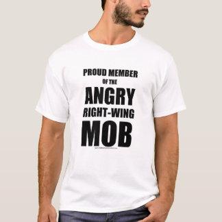 Camiseta T-shirt de direita irritado da multidão