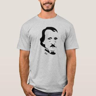 Camiseta T-shirt de Edgar Allan Poe   (luz - cinza)