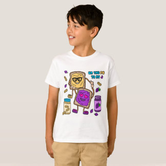 Camiseta T-shirt de Emoji da manteiga & da geléia de
