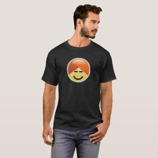 Camiseta T-shirt de Emoji do turbante do smiley de Guru da