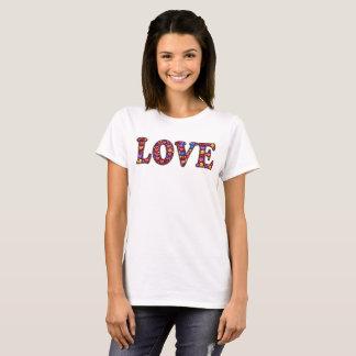 Camiseta T-shirt de Emojis do amor