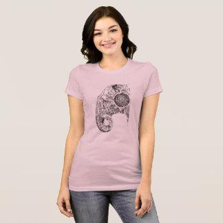 Camiseta T-shirt de escuta da música do elefante